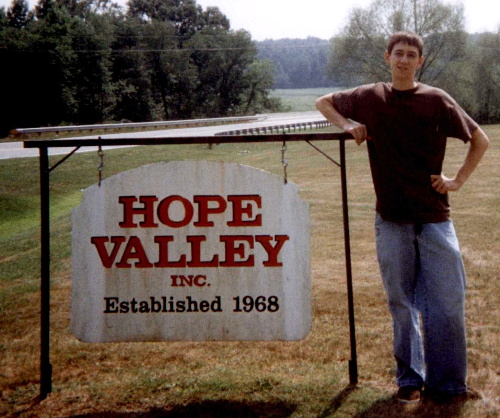 Tommy's last day at Hope Valley 8/97